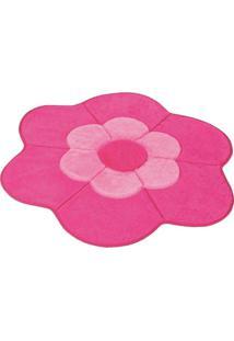 Tapete Formato Premium Big 1,12Mx1,12M Margarida Dupla Pink Guga Tapetes