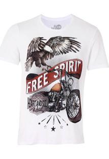 Camiseta Free Spirit Masculina Km - Marfim