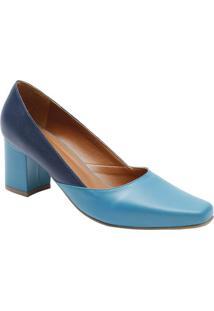 30dcc3e258 ... Sapato Tradicional Em Couro Com Recortes- Azul Marinho  Le Rossi