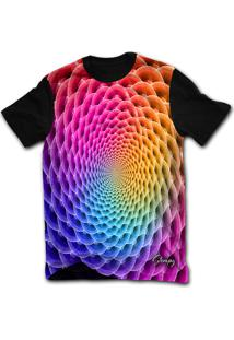 Camiseta Manga Curta Stompy Psicodelica 03 Preto