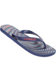 Sandália Havaianas Aero Graphic Masculina - Masculino-Azul+Vermelho