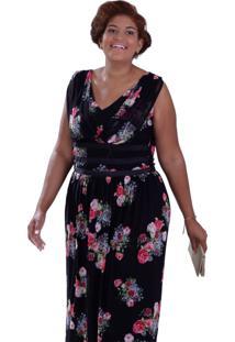 Vestido Miranda Tuly Plus Size Vickttoria Vick Plus Size Preto