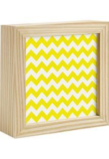 Quadro Decorativo Decohouse Moldura Art Amarelo