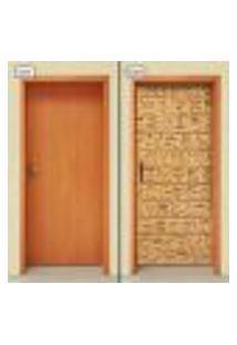 Adesivo Decorativo De Porta - Hieróglifo - 1158Cnpt