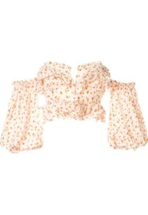 Acler Blusa Cropped - Neutro