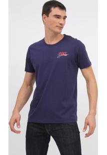 "Camiseta ""Coke Jeansâ®""- Azul Marinho & Branca- Coca-Coca-Cola"