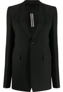 Rick Owens Tailored Single-Breasted Blazer - Preto