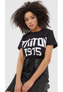 Camiseta Triton Amarração Preta