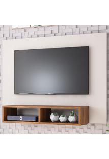 Painel Para Tv Até 42 Polegadas Baly Off White/Seda - Viero Móveis