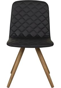 Cadeira Vitã³Ria - Couro Preto