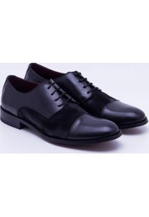 Sapato Social Couro Spazzolato Masculino - Masculino