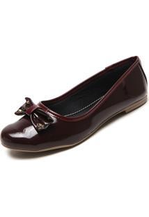 Sapatilha Dafiti Shoes Laço Vinho