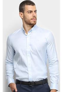 Camisa Lacoste Masculina - Masculino-Azul Claro