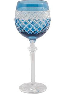 Taça De Cristal Lodz Para Vinho 400 Ml Wado