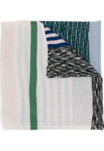 Missoni Echarpe De Tricô Color Block - Laranja