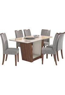 Sala De Jantar Apogeu Com 6 Cadeiras Imbuia Naturale