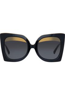 Nº21 Óculos De Sol 'Linda Farrow' - Preto