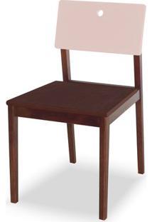 Cadeira Flip Cor Cacau Com Encosto Bege Claro - 31132 - Sun House