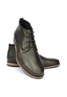 Bota Ankle Boot Vitelli Masculino Couro Conforto Casual Marrom 42 Marrom