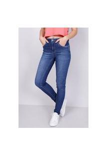 Calça Jeans Skinny Azul Escuro Gang Feminina