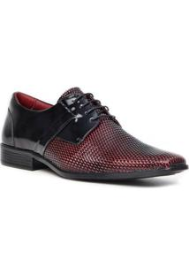 Sapato Social Gofer Promais 12103A Co - Masculino-Vermelho