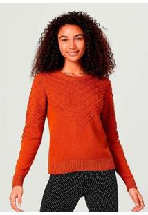 Blusão Em Tricô De Algodão Texturizado Hering Feminino - Feminino
