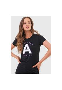 Camiseta Aeropostale Lettering Preta