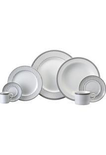 Aparelho De Jantar E Chá Porcelana Schmidt 20 Peças - Dec. Aline