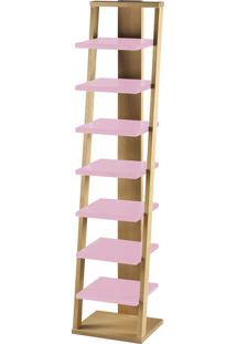 Prateleira Suspensa Stairway 1132 Palha/Rosa Cristal - Maxima