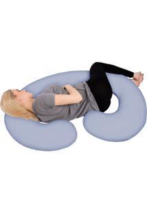 Fronha Para Travesseiro Corpo Gestante Azul Fassini Têxtil