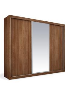 Armário 3 Portas De Correr Com Espelho, Imbuia, Premium Plus 2,46M