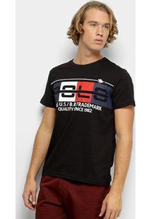 Camiseta Polo Rg 518 Masculino Careca - Masculino-Preto
