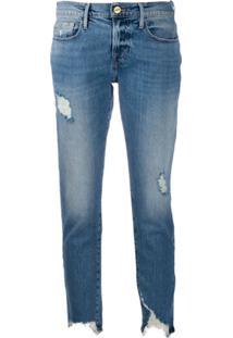 Frame Calça Jeans Skinny Cropped Le Garcon - Azul