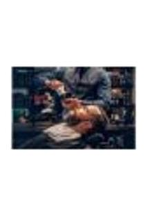 Painel Adesivo De Parede - Barbearia - Barber Shop - 1118Png