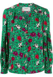 Ba&Sh Blusa Palerme Com Estampa Floral - Verde