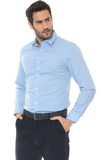Camisa Banana Republic Slim Grant Azul
