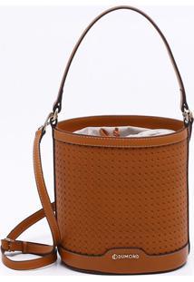 Bolsa Bucket Couro Canela - M