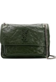 Saint Laurent Medium Niki Shoulder Bag - Verde
