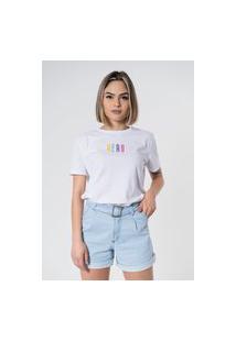 T-Shirt Aero Jeans Colors Branca