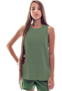 Blusa De Linho Alfaiataria Verde
