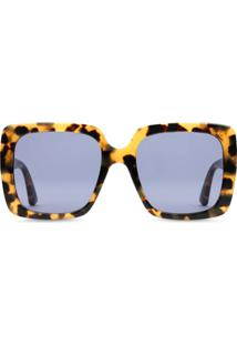 Gucci Eyewear Rectangular-Frame Sunglasses - Preto