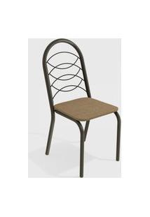 Cadeira Holanda Bronze/Cappuccino (Par) Kappesberg