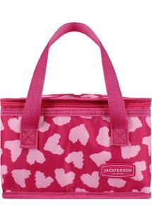Bolsa Térmica Retangular & Estampa Corações- Pink & Rosajacki Design