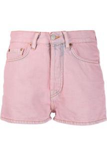 Acne Studios Short Jeans Clássico - Rosa