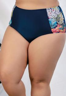 Calcinha Biquíni Plus Size Marinho
