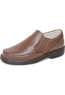 Sapato Di Ferutti Soft Conforto Em Couro Cor Havana