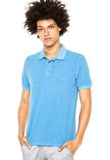 Camisa Polo Oakley One Brand Washed Azul