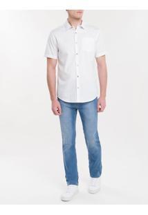Camisa Regular Mg Curta Básica Fio 50 - Branco 2 - 1