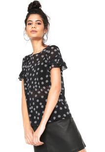2e80c20b337ac Camiseta Babados Preta feminina   Shoelover