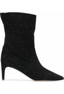 Red(V) Ankle Boot Com Aplicações - Preto